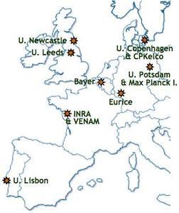 Map of WallTraC partners